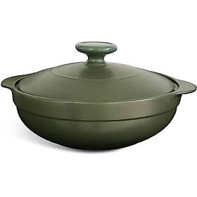 Nồi dưỡng sinh Luna Minh Long Healthy Cook 211083464 + nắp - Xanh Rêu (1.0L)
