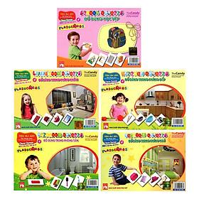 Bộ 5 túi Thẻ giáo dục thông minh ( phòng tắm- phòng ngủ - phòng khách- phòng bếp - đồ dùng học tập)