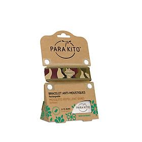 Viên chống muỗi PARA'KITO kèm vòng đeo tay bằng vải  hoa văn rừng xanh (loại 2 viên) -PGWB02