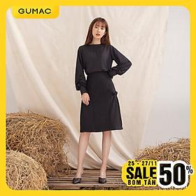 Chân váy nữ  VA1044 GUMAC thiết kế  xòe xếp bèo sườn