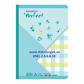 Vở kẻ ngang Perfect - 80 trang; Klong 883 bìa xanh