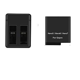 Combo 2 pin 1 sạc đôi cho Gopro Hero 5 6 7 8