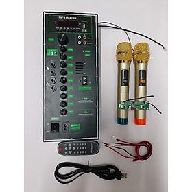 Combo Mạch Loa Kéo 4 tấc đơn kèm 2 Mic UHF