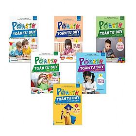 Bộ Sách PoMath - Toán Tư Duy Cho Trẻ Em 4-6 Tuổi (Tặng bookmark độc đáo CR)