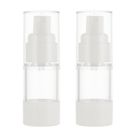 2Pcs Portable Empty Cosmetic Makeup Sterile Airless Pump Spray Bottles Vials