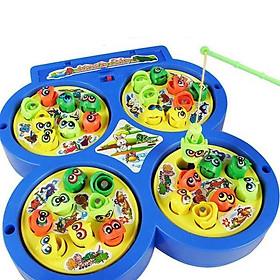 bộ câu cá cho bé 4 ô có nam châm hút và phát nhạc đồ chơi giải trí