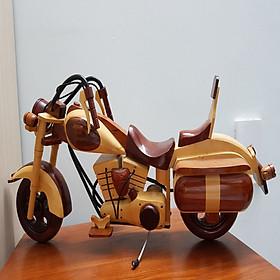 Xe mô hình Moto gỗ