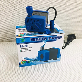 Combo máy bơm nước mini RS 701 + 100 gram đá nham thạch lọc nước hồ cá