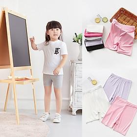 (Video) Quần legging đùi quần short thun cotton bé gái 2-10 tuổi quần mặc váy cực đẹp