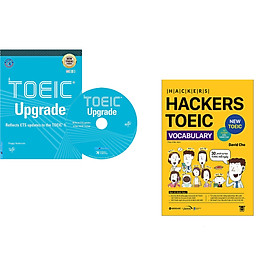 Combo 2 cuốn sách: TOEIC Upgrade + Hackers Toeic Vocabulary