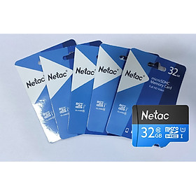 COMBO 5 THẺ NHỚ MICRO SD NETAC 32GB - HÀNG CHÍNH HÃNG