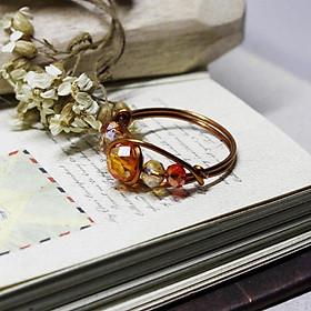 Nhẫn đá phong thuỷ đồng nguyên chất N5 03870-03875