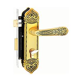 Ổ khoá cửa tay gạt Việt Tiệp 04341 hợp kim màu vàng dành cho các loại cửa thông phòng
