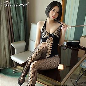 Tất lưới toàn thân Body Stocking màu đen sexy quyến rũ hàng cao cấp giá rẻ cosplay phòng ngủ