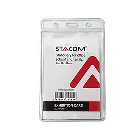Thẻ đeo bảng tên nhựa dẻo STACOM - PVC6644