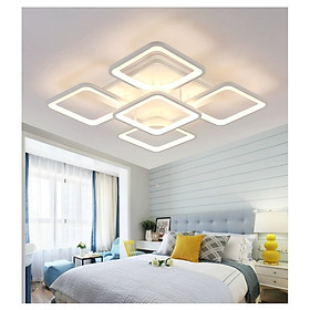 Đèn ốp trần trang trí phòng ngủ, phòng khách mẫu hiện đại vuông 5 cánh TT5