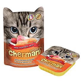 Hình đại diện sản phẩm Pate Cá Ngừ Và Cá Hồi Cho Mèo Cherman (85g) - Giao mẫu ngẫu nhiên