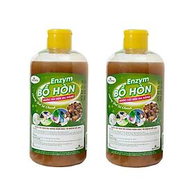 Hai chai Enzyme Bồ Hòn Siêu Đậm Đặc -Nước rửa tay đa năng