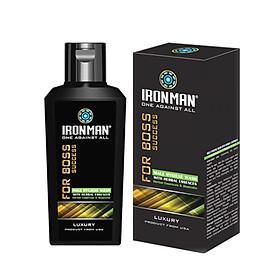 Dung dịch vệ sinh nam dịu nhẹ dạng gel tinh chất thảo dược ,the mát,giúp làm sạch,khử mùi hôi,thiết kế nhỏ gọn Ironman for Boss 120g
