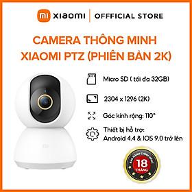 Camera An Ninh Thông Minh Xiaomi PTZ 360 2K 3MP Nhìn Được Ban Đêm Toàn Cảnh - Hàng Chính Hãng