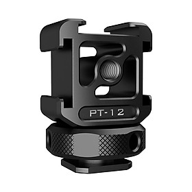Ulanzi Triple Cold Shoe Mount Adapter Aluminum Alloy with 3 Cold Shoe Dual 1/4 Thread for Camera Extension Microphone