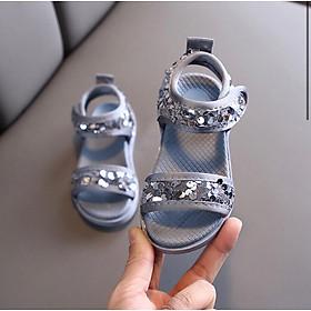 giày sandal bé gái kim tuyến tròn