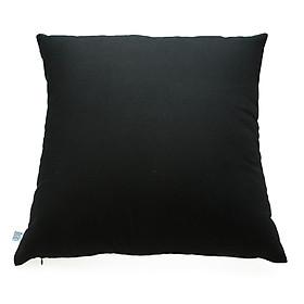 Gối trang trí Soft Decor Black Canvas 40x40x15cm (Đen)