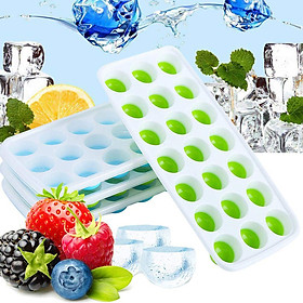 21 Cavities Small Round Ice Tray For Chilled Cocktails/ Whiskey/ Vodka And Juice Color Random Delivery
