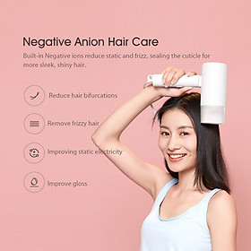 Máy sấy tóc Xiaomi Youpin Anion CMJ02LXW 1600W, Máy sấy ion âm sấy nhanh Động cơ 18000 vòng / phút ,trọng lượng nhẹ