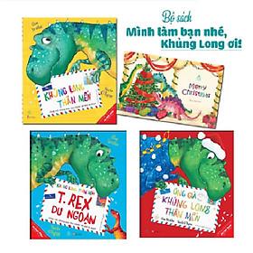 Sách Combo Minh làm bạn nhé, Khủng Long ơi (tặng sticker, postcard)
