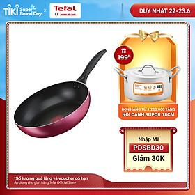 Chảo chiên Tefal Light & Clean B2240595 26cm (Đỏ) - Lớp phủ Titanium - Công nghệ Thermor-spot cảnh báo nhiệt - Hàng chính hãng