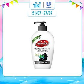 Nước Rửa Tay Diệt Khuẩn Cân Bằng pH Lifebuoy Than Hoạt Tính Và Bạc Hà (500g)
