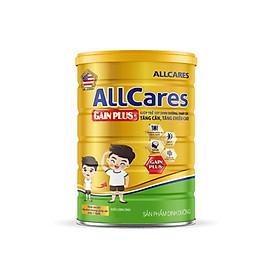 Sữa bột ALLCares Gain Plus+ lon 900g - Giúp trẻ suy dinh dưỡng, thấp còi TĂNG CÂN, TĂNG CHIỀU CAO của NutiFood