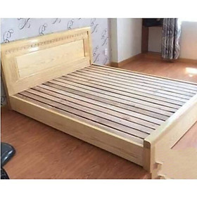 Giường Ngủ Bệt Gỗ Sồi Nga 1m6x2m Màu Tự Nhiên