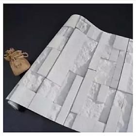 10m giấy dán tường giả đá có keo sẵn