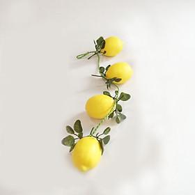 Dây quả chanh vàng giả - trái cây củ quả giả cao cấp