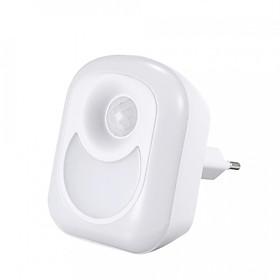 Wall Night Lamp LED Light Warm White Light with EU Plug Infrared Body Motion Detection Sensor Mini Sleeping Night Light