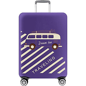 Banzhinila rod case suitcase cover elastic luggage cover dust cover thick wear-resistant shipping set bus purple suitable for 26 inch 27 inch 28 inch 29 inch trolley case
