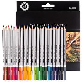 Hộp Bút Chì Màu Deli Có Thể Tan Trong Nước (24 Màu)