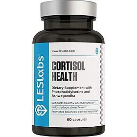 Viên uống LES Labs Cortisol Health hỗ trợ tuyến thượng thận để hỗ trợ giảm căng thẳng 60 viên Nhập Khẩu Mỹ