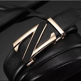 Thắt lưng nam cao cấp, dây nịt nam cao cấp khóa tự động dây da bền bỉ theo thời gian hàng hiệu TOPEE TNV36