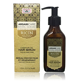 TInh dầu dưỡng tóc ARGANICARE Castor Hair Serum for All hair types 100ml