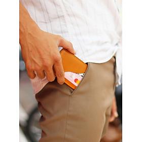 Ví thẻ, ví card da bò thật nguyên tấm, màu bò sang trọng, đựng được tất cả các loại thẻ ATM, lịch lãm và mạnh mẻ NC_5