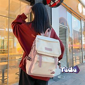 Balo Đi Học, Ba Lô Nữ Phong Cách Hàn Quốc Vải Chống Nước, Đựng A4, Laptop 14 Inch Kèm Quà Tặng CN171