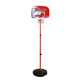 Đồ Chơi trụ bóng rổ phát triển chiều cao cho bé - điều chỉnh độ cao 0.8m -1.65m Loại lớn (kèm bóng + Kim bơm)