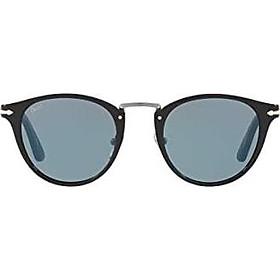 Persol PO3108S - 95/56 Sunglasses Black w/ Light Blue Lens 49mm