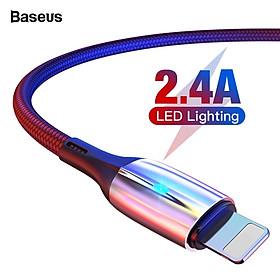 Dây cáp sạc nhanh 2.4A Lightning dài 200cm hiệu Baseus Vertical cho iPhone / iPad trang bị đèn LED, sạc nhanh 2.4A, Công nghệ chống đứt SR - Hàng nhập khẩu