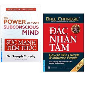 Combo 2 cuốn sách cực hay về kinh tế :  Đắc Nhân Tâm + Sức Mạnh Tiềm Thức 2021 (Tặng Kèm Bookmark Happy Life)