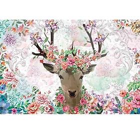 Tranh xếp hình 1000 mảnh gỗ - thần rừng hoa dạ quang