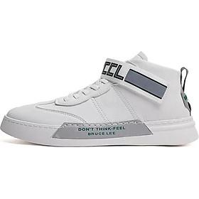 Giày Sneaker Nam Mẫu Mới BAZAS BZ-8520 Trắng Phối Xám